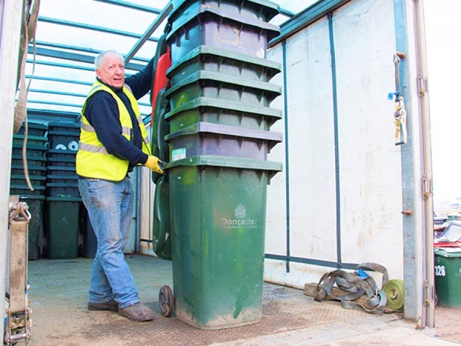 LOCAL AUTHORITY WASTE CONTAINER RECYCLING STREET COLLECTION SERVICE.